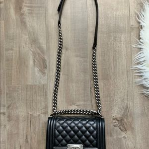 CHANEL Bags - Chanel boy small caviar leather- New